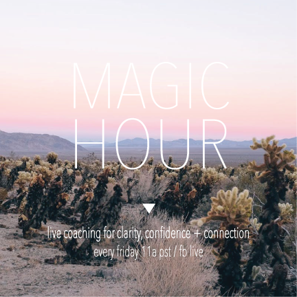 Announcing: MAGIC HOUR! Facebook Live, Every Friday
